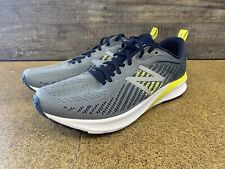 New Balance 870 v5 Running Shoes (M870GY5) Men's Size 9 - Gray / Navy / Yellow