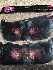 Hen Nite Party*Girls Night Out Feather Eye Mask x2