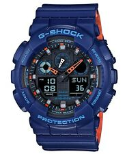 Casio G-Shock * GA100L-2A Anadigi Bi-Color Blue & Orange Gshock Watch COD PayPal
