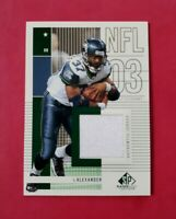 2003 SP Game-Used #146 SHAUN ALEXANDER (Seahawks) Jersey (MINT) L@@K *FREE SHIP*
