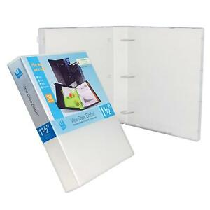 """UniKeep 3 Ring Binder Case View Binder - 1.5"""" Spine w/ Clear Overlay, Pack of 3"""