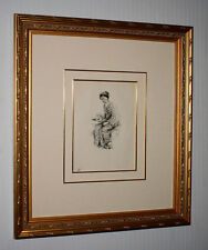 "Signed ROBERT FREDERICK BLUM Original Pen & Ink ART, Frame, ""Geisha"" COA, UACC"