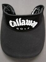 Callaway Black Adjustable Tour Visors 3D Callaway Stitched Logo 100% Cotton