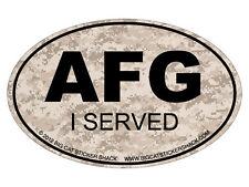Euro Oval - Afghanistan I served  (Bumper Sticker)