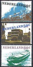 Netherlands 1980 Transport/Rail/Boat/Barge/Truck/Motoring/Railways 3v set n41074