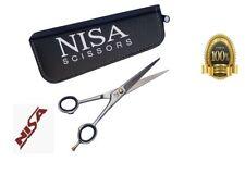 "GERMAN Barber Hair nisa Professional Cutting Scissors Shears Size 7.5"" big rings"