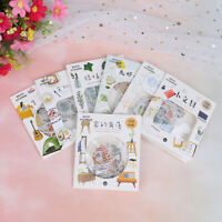 40Pcs/pack Happy Life Decor Diary DIY Stickers Stationery Planner Stickers*TRF