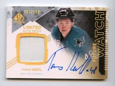 TOMAS HERTL RC  AUTO PATCH 2013-14 SP AUTHENTIC FUTURE WATCH 63/100 SHARKS RARE