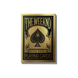 THE WEEKND AFTER HOURS OFFICIAL PLAYING CARDS LIMITED SPECIAL EDITION RARE POKER
