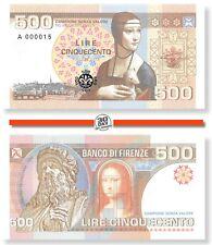 Italy, Firenze, 500, Lire, 2019, Series A, Unc, Specimen, Private, Gabris,