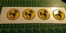 4x rueda Abarth Scorpion Calcomanías Pegatinas Fiat 500 punto sciento Gel abovedado