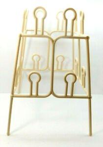 "Vintage Rubbermaid Cream Tower Plastic Shoe Storage Organizer Rack 19"" tall"