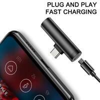 1*Audio Charging Adapter Type C to 3.5mm Jack Converter 2 in 1 Earphone Splitter