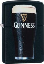 Zippo Guinness Beer Glass WindProof Lighter Black Matte 29649 NEW L@@K