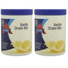 Atkins Advantage Vanilla Shake Mix Carb Reduced 370g Pack of 2 BBE DEC 2019