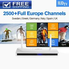 2018 Full Europen IPTV Box 2500 Plus Europe Channels 1 year IPTV IUDTV Top Box