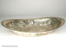 Antique Austrian Silver Repousse Serving Bowl - Grape Leaf - 18oz of .813