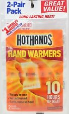 Hot Hands Hand Warmers Up To 10 Hours Of Heat 2-Pair Pack Long Lasting Heat