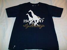 LRG Clothing Equipment Short Sleeve Blue 100% Cotton Graphic T-Shirt - Men Large