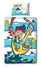 Neuf Parure de Lit Enfant Jake et les Pirates Neverland Housse Coussin pour Tête