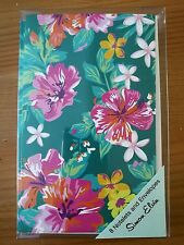 PRETTY FLOWER THANK YOU INVITE PARTY  CARDS - BLANK INSIDE PACK OF EIGHT 8 - DG