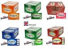 12 Pack x TRIDENT Chewing Soft Gum Flavour Packet Sugar Free Packs FULL BOX UK