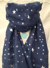 TWINKLE SILVER STAR SCARF BLUE SISTER MUM GIFT FRIEND PRESENT STARS BIRTHDAY