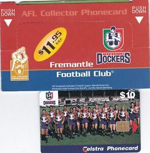 AUSTRALIA TELSTRA  $10 FREMANTLE DOCKERS FOOTBALL CLUB PHONECARD