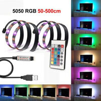 5050 RGB LED Strip Light TV Backlight Full Kit 16 Multi Colors USB 24 Key Remote