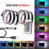 5050 RGB LED Strip Light TV Backlight Full Kit 16 Multi Colors USB 24 Key Remote