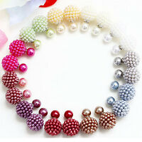 Wholesale/10 Pair MIX Color Double Side Ball Earrings Studs Bayberry Style