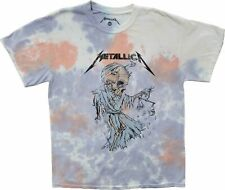 New Men's Metallica Time Will Tell Tie Dye Vintage Retro T-Shirt Rock Band Tee