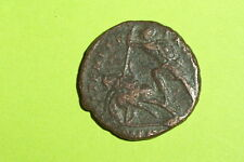 LARGE Ancient ROMAN COIN of CONSTANTIUS II soldier killing Persian horse man VG