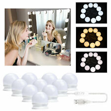 10 LED Dimmable Vanity Mirror Lights Kit Bulbs for Makeup Dressing Hollywood PE