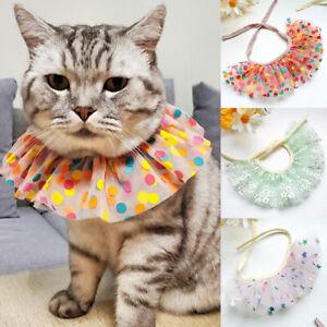 Puppy Dog Cat's Dot Mesh Lace Collar Neckerchief Saliva Towel Pet Supply Decor