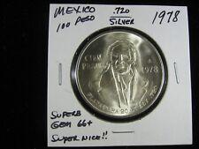 1978 MEXICO 100 CIEN PESO .720 SILVER SUPERB GEM QUALITY VIRTUALLY NO BAG MARKS