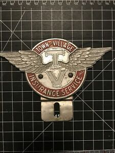 Town And Village Insurance Service Inc. Wings Car Badge