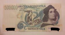 500000 Raffaello. 500.000  Lire Raffaello. Nuova come presa in banca.