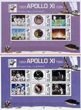 MALDIVE IS. 1994 SPACE APOLLO XI ANNIVERSARY x2 M/S MNH FLIGHTS PATCHES