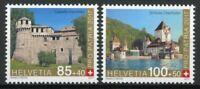 Switzerland Architecture Stamps 2017 MNH Pro Patria Fortresses & Castles 2v Set