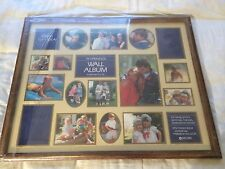 "LARGE WOOD PICTURE FRAME WALL ALBUM WITH 19 OPENINGS 21"" X 17"""