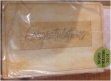 """Pack of 10 GREETING Cards, """"Congratulations""""  Sealed Large Size"""