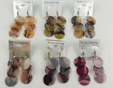 6 PCS  wholesale lot animal print  fashion drop/dangle earring -US SELLER #EE23