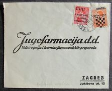 Croatia 1941 Cover, sent to Zagreb, 2 stamps
