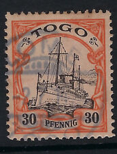 GERMAN TOGO: 1900 'Yacht' 30pf black and orange/buff SGG12 used