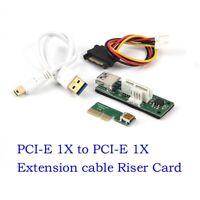 Mini PCI-E PCI Express Extension1X Riser Card Power USB 30cm Extender Cable 4pin