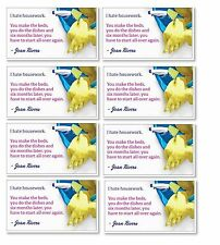 """Joan Rivers  MAGNET """"Housework"""" Quote Joke - 15 Magnets / Stickers  Housekeeping"""