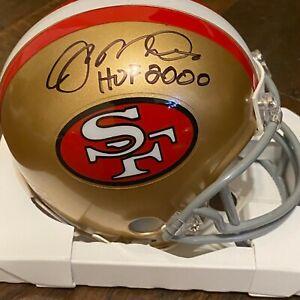 JOE MONTANA AUTOGRAPHED SIGNED SAN FRANCISCO 49ERS MINI HELMET W/INSCRIP HOLO