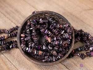 MANGANESE Crystal Bracelet, Chip Beads, Beaded Bracelet, Handmade Jewelry, E1803