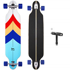 M Merkapa 41 Inch Drop-Through Longboard Skateboard Cruiser Sailing